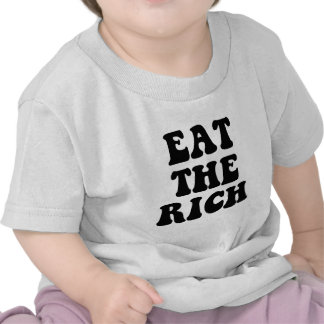 Mangez les riches occupent Wall Street T-shirts