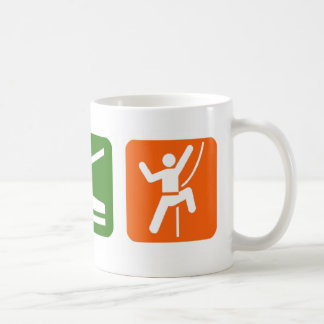 Mangez l'escalade de roche de sommeil mug