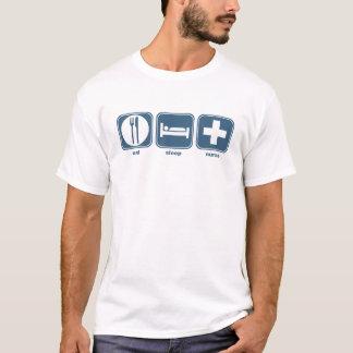 mangez l'infirmière de sommeil t-shirt