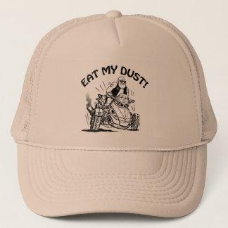 mangez ma poussière, casquette de cycliste de