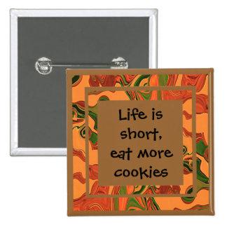 mangez plus de biscuits pin's avec agrafe