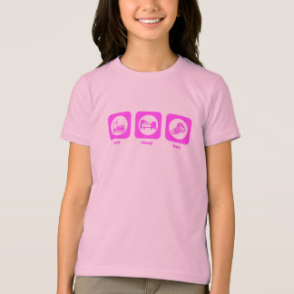 Mangez. Sommeil. Boîte. T-shirt