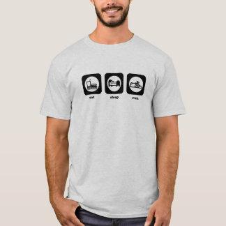 Mangez. Sommeil. Course. T-shirt