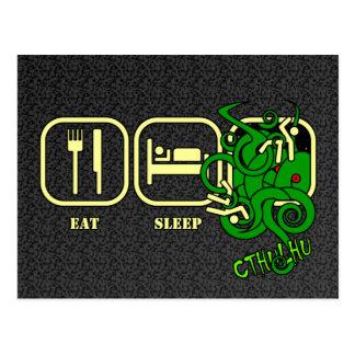 Mangez - sommeil - la carte postale de Cthulhu