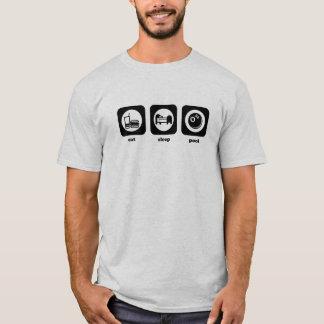 Mangez. Sommeil. Piscine. T-shirt