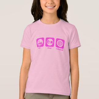 Mangez. Sommeil. Volleyball. T-shirt