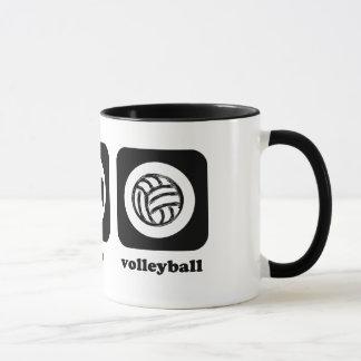 Mangez. Sommeil. Volleyball. Tasse