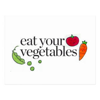 Mangez vos légumes cartes postales