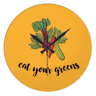 mangez votre horloge de verts