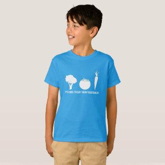 Mangez votre T-shirt d'enfants de légumes