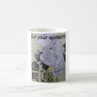 Mangez votre tasse de Popeye d'épinards (café)