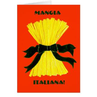 Mangia, carte de note d'Italiana