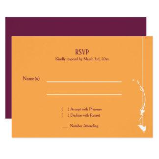 Mangue et carte pourpre du mariage | RSVP