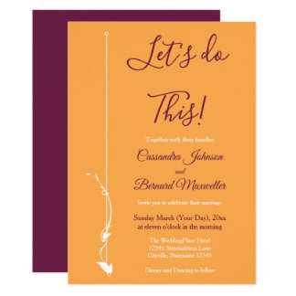 Mangue et invitation pourpre du mariage |