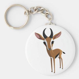 Mangue la gazelle porte-clé rond