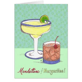 Manhattans et margaritas | personnalisable cartes