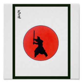 Manière de Bushido de Japonais du guerrier Affiches