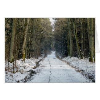 Manière de forêt en hiver carte de vœux