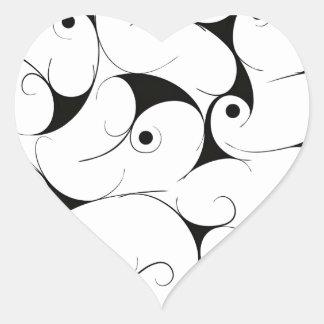 Manière laiteuse dans le noir sticker cœur