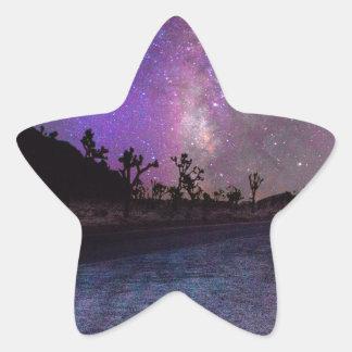 Manière laiteuse de parc national d'arbre de sticker étoile