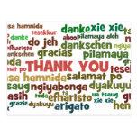 Manières multiples de dire le Merci dans beaucoup Carte Postale