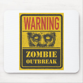 Manifestation de zombi d'affiche. Panneau de signe Tapis De Souris