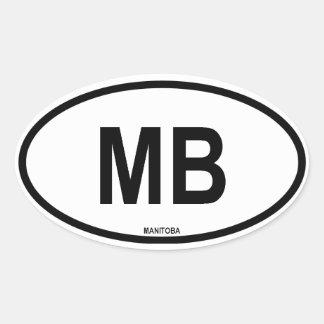 "Manitoba ""mb "" sticker ovale"