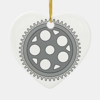 Manivelle simple vintage d'anneau rétro ornement cœur en céramique