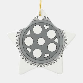 Manivelle simple vintage d'anneau rétro ornement étoile en céramique