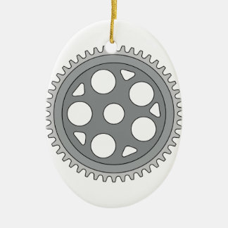 Manivelle simple vintage d'anneau rétro ornement ovale en céramique