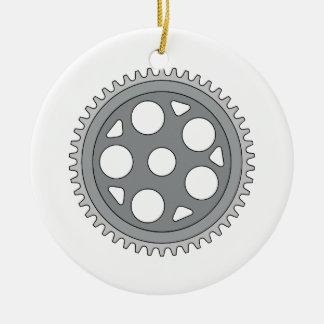 Manivelle simple vintage d'anneau rétro ornement rond en céramique