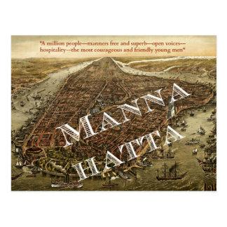 Mannahatta -- Carte postale de Manhattan de