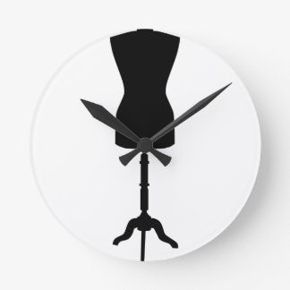 Mannequin de dans-magasin de tailleur horloge ronde