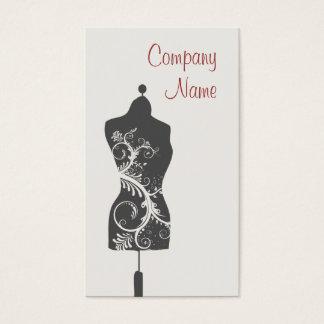 Mannequin d'ouvrière couturière cartes de visite