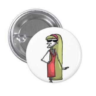 Mannequin vedette squelettique badges