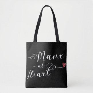 Mannois au sac d'épicerie de coeur, île de Man