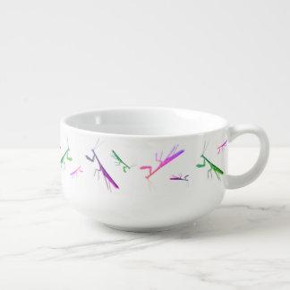 Mante ébouriffée par le vent mug à soupe
