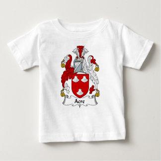 Manteau antique de famille d'acre de crête de bras t-shirt pour bébé