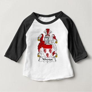 Manteau antique de famille de Velverton de crête T-shirt Pour Bébé