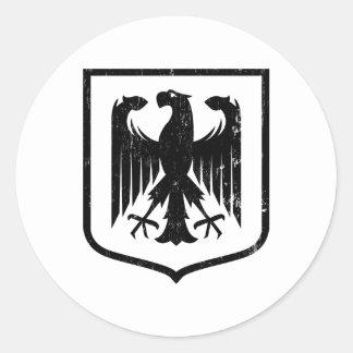 Manteau d Allemand Eagle - du Deutschland des bras Autocollant Rond