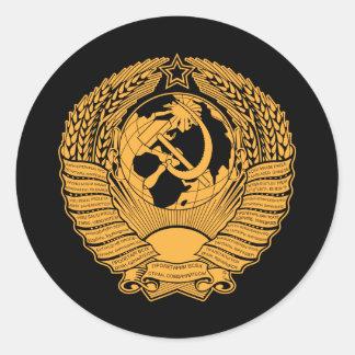 Manteau d Union Soviétique de Russe vintage de gui Adhésifs Ronds