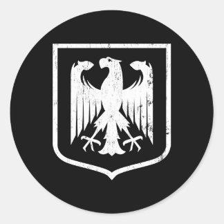 Manteau d'Allemand Eagle - du Deutschland des bras Sticker Rond
