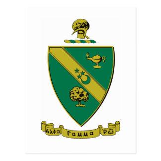Manteau d'alpha Rho gamma des bras officiel Carte Postale