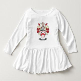 Manteau de crête de famille de Kennedy des bras Robe Manches Longues