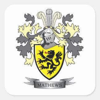 Manteau de crête de famille de Matthews des bras Sticker Carré