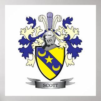 Manteau de crête de famille de Scott des bras Poster
