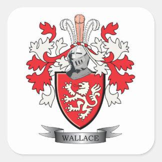 Manteau de crête de famille de Wallace des bras Sticker Carré