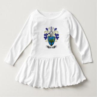 Manteau de crête de famille des bras en bois robe manches longues