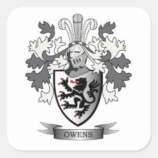Manteau de crête de famille d'Owens des bras Sticker Carré