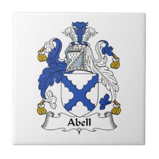 Manteau de famille d'Abell des bras et des crêtes Carreau